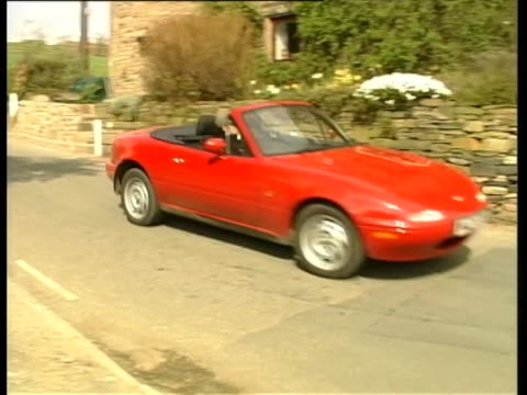 mazda mx-5 1997 - test drive stock videos & royalty-free footage