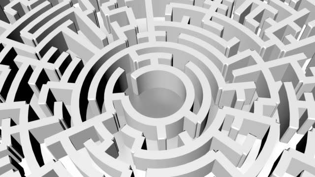 maze background, 3d rendering illustration - maze stock videos & royalty-free footage