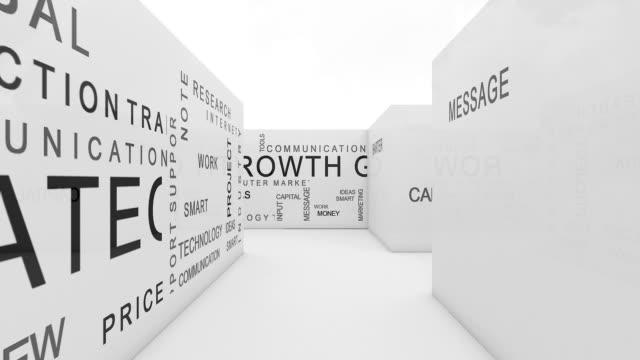 maze communication - labirinto video stock e b–roll