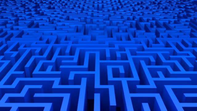 vídeos y material grabado en eventos de stock de maze circular azul - valla límite