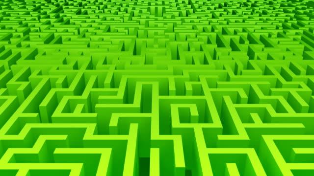 vídeos y material grabado en eventos de stock de maze mover verde - valla límite