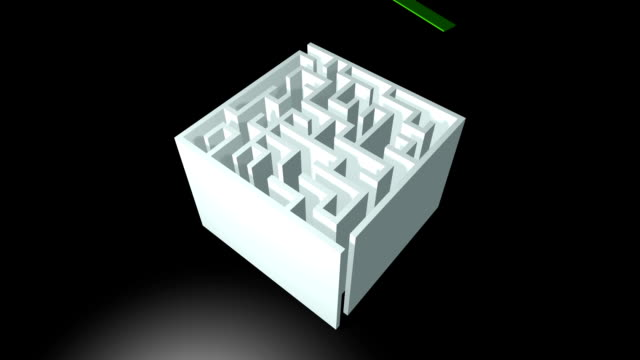 maze solution animation - decisions stock videos & royalty-free footage