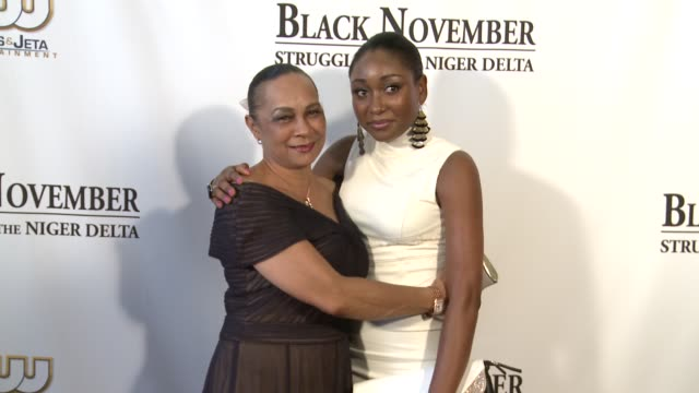 mbong amata and annikio reid briggs at black november screening in washington dc at the john f kennedy center for performing arts on may 08 2012 in... - john f. kennedy center for the performing arts stock videos & royalty-free footage