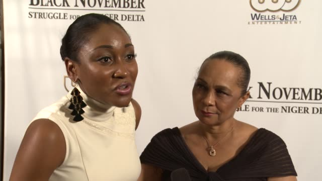 mbong amata on being honored to play annikio reid briggs in the film black november screening in washington dc at the john f kennedy center for... - john f. kennedy center for the performing arts stock videos and b-roll footage