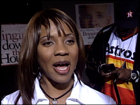 mc lyte at the 'bringing down the house' premiere at the el capitan theatre in hollywood, california on march 2, 2003. - el capitan theatre stock videos & royalty-free footage
