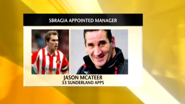 McAteer on Sunderland Manager Ricky Sbragia GRAPHIC Jason McAteer phono interview SOT Talks of appointment of Ricky Sbragia as Sunderland Manager