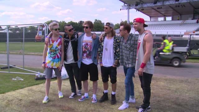 stockvideo's en b-roll-footage met mcbusted at british summer time with mcbusted on 2nd july 2014 in london england - jongensband