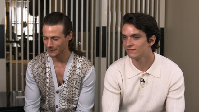 interview mccaul lombardi fionn whitehead on what attracted them to 'port authority' at 'port authority' interviews the 72nd cannes film festival on... - port authority stock videos & royalty-free footage