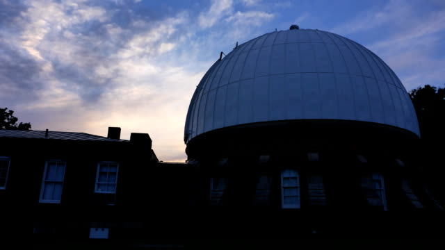 mccormick observatory time lapse - university of virginia stock videos & royalty-free footage