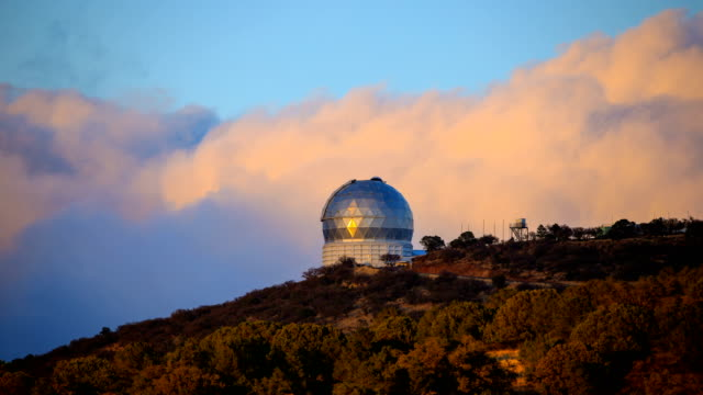 mcdonald observatory in fort davis, texas - observatory stock videos & royalty-free footage