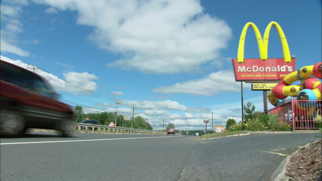la mcdonald's by the side of a highway / united states - mcdonald's stock videos & royalty-free footage