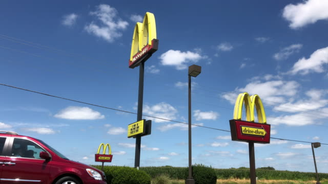 mcdonald's drive through service - arch architectural feature stock videos & royalty-free footage