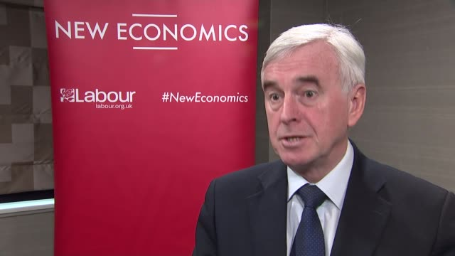 McDonnell says nationalisation of public services would be cost free ENGLAND London INT John McDonnell MP interview SOT