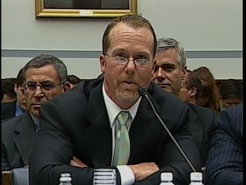 """of mcgwire former major league baseball first baseman mark mcgwire calls steroids """"bad"""" during a hearing conducted by the house committee on... - rafael palmeiro stock videos & royalty-free footage"""