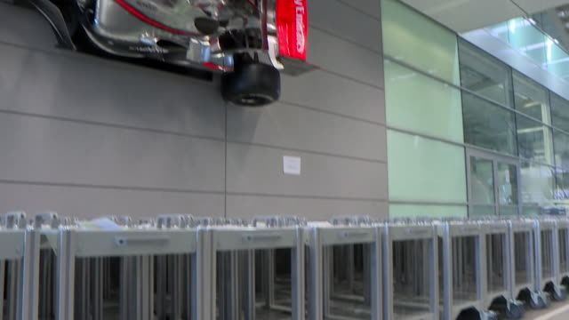 mclaren racing team, in their factory, making trolleys for ventilators to sit on during the coronavirus crisis - - cart stock videos & royalty-free footage