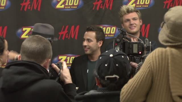 AJ Mclean Howie Dorough Nick Carter and Brian Littrell at the Z100 Jingle Ball 2007 at Madison Square Garden in New York New York on December 14 2007