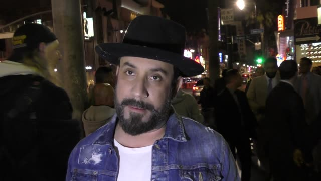 mclean talks about his love for his backstreet boys fans outside the roosevelt hotel in hollywood in celebrity sightings in los angeles - backstreet boys stock videos & royalty-free footage