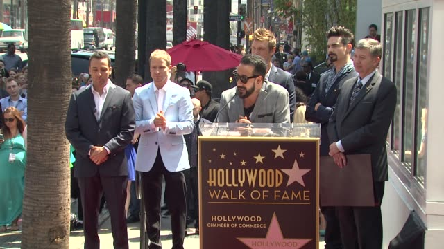 J McLean thanks his friends family and fans on being honored with a star at Backstreet Boys Celebrate 20 Year Career With Star On The Hollywood Walk...