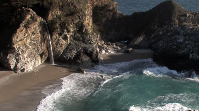 mcway falls locked wide - carmel california stock videos and b-roll footage
