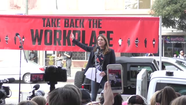 #me too rally outside cnn building in hollywood in celebrity sightings in los angeles - social movement stock videos & royalty-free footage