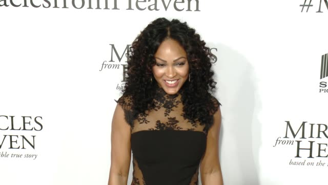 meagan good at miracles from heaven los angeles premiere at arclight cinemas on march 09 2016 in hollywood california - arclight cinemas hollywood stock videos & royalty-free footage