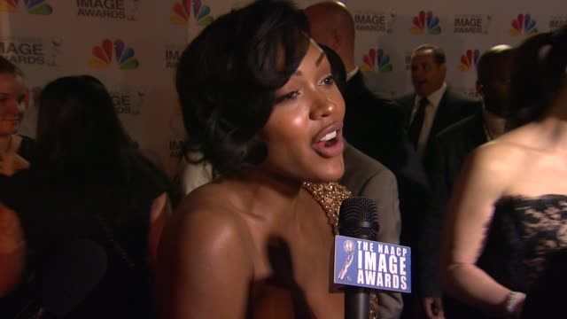 Meagan Good on the event at The 43rd NAACP Image Awards Arrivals on 2/17/12 in Los Angeles CA