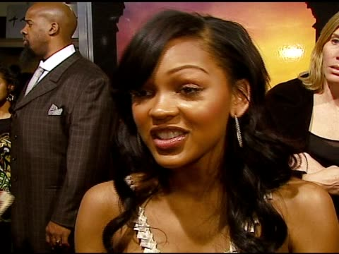 meagan good on why she wanted to be part of the film, the love story behind the dancing at the 'stomp the yard' premiere at the cinerama dome at... - arclight cinemas hollywood stock videos & royalty-free footage