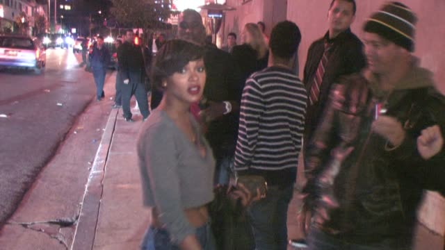 meagan good outside premiere supper club at the celebrity sightings in los angeles at los angeles ca. - celebrity sightings stock videos & royalty-free footage