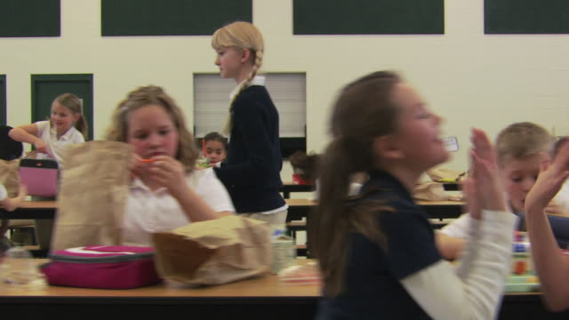 mean girls at school lunch - see other clips from this shoot 1148 stock videos & royalty-free footage