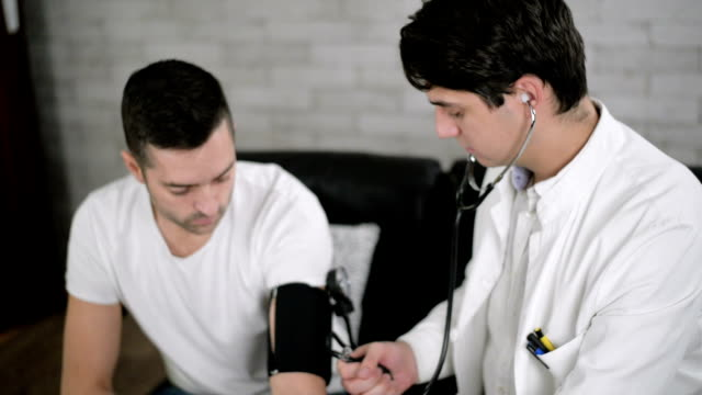 measuring blood pressure - hypertension stock videos and b-roll footage