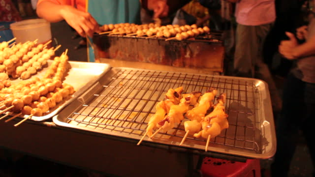 Meat ball and Squid grilled
