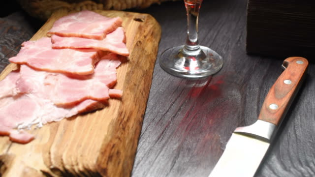 meat, cheese and wine - plank stock videos & royalty-free footage