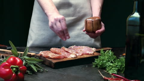 meat loin cooking - raw food stock videos & royalty-free footage
