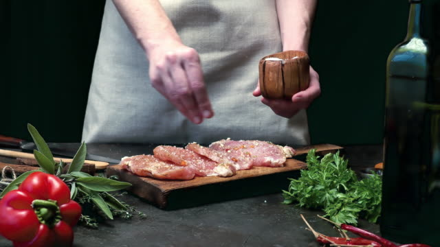 meat loin cooking - food and drink stock videos & royalty-free footage