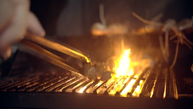 meat on grill - steak stock videos & royalty-free footage