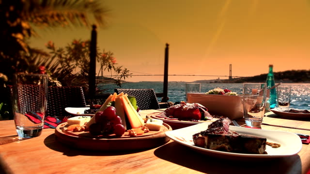 meat restauran in luxury - bosphorus stock videos & royalty-free footage