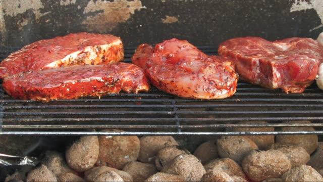 meat - kotelett stock-videos und b-roll-filmmaterial