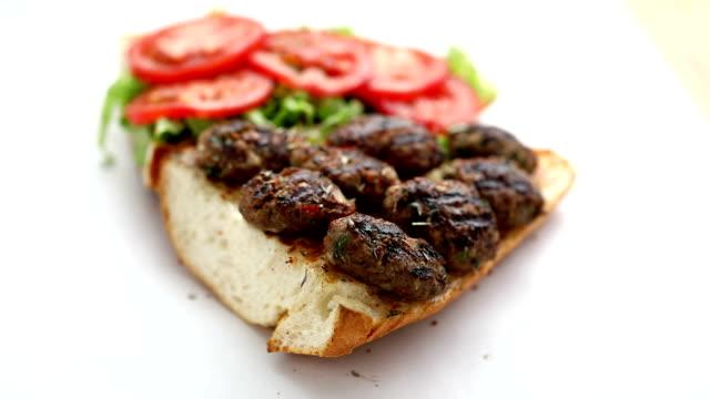meatball sandwich half bread - meatballs stock videos & royalty-free footage