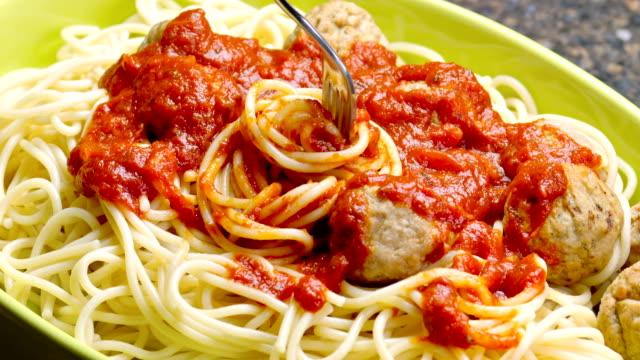meatball spaghetti - spaghetti stock videos and b-roll footage