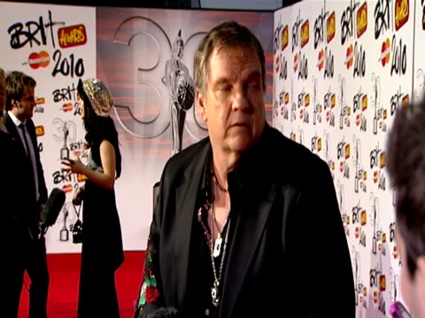 Meatloaf at the The Brit Awards 2010 at London England