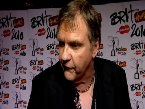 Meatloaf on his favourite memory from The Brits on Lady Gaga at the The Brit Awards 2010 at London England