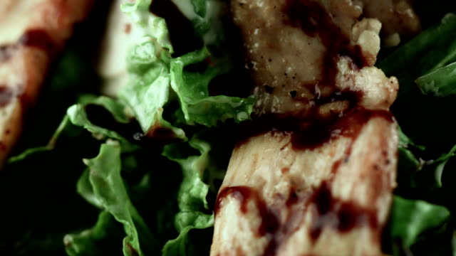 meaty main course with vegetables and greens - main course stock videos & royalty-free footage