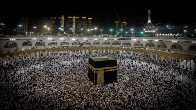 mecca mosque - congregation stock videos and b-roll footage