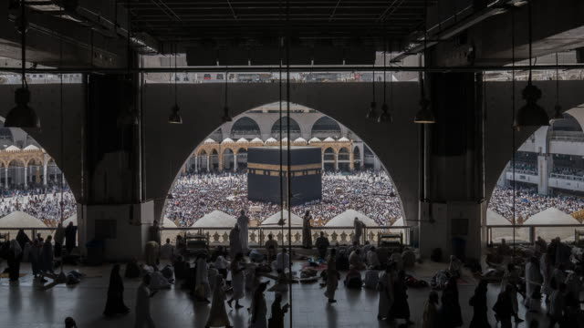 mecca mosque - al haram mosque stock videos and b-roll footage