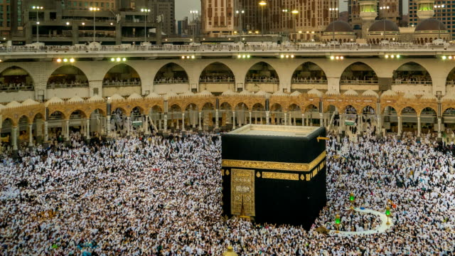 mecca :saudi arabia - pellegrino video stock e b–roll