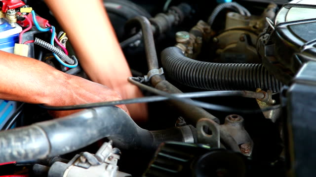 mechanic fixing the engine - wrench stock videos & royalty-free footage