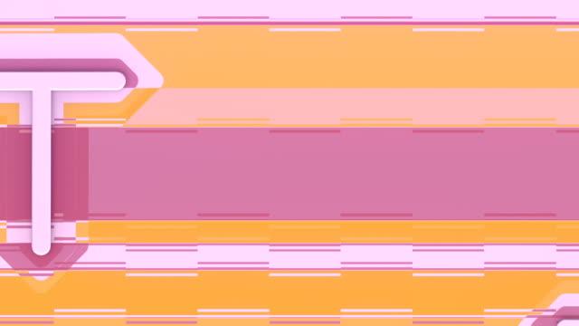 mechanische bewegung im abstrakten stil auf mehrfarbigen horizontalen linien hintergrund. business teamwork-konzept. digitale nahtlose loop-animation. 3d-rendering. hd-auflösung - maßwerk stock-videos und b-roll-filmmaterial