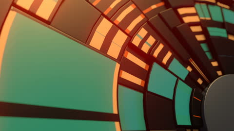 mechanical movement of circular geometric shapes. abstract hi-tech and science background with hud gears design template. digital seamless loop animation. 3d rendering. hd resolution - geometric stock videos & royalty-free footage