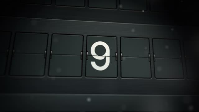 stockvideo's en b-roll-footage met mechanical screen countdown. full hd - secondewijzer