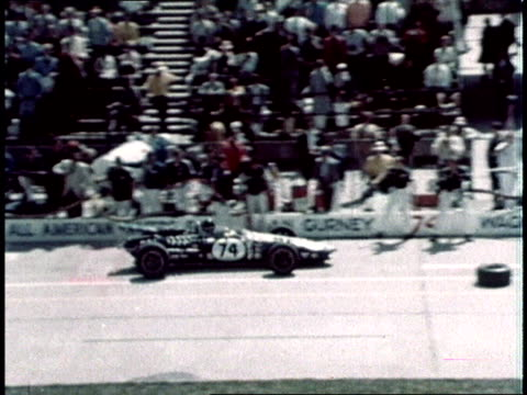 1967 montage mechanics in auto racing / usa - pit stop stock videos & royalty-free footage